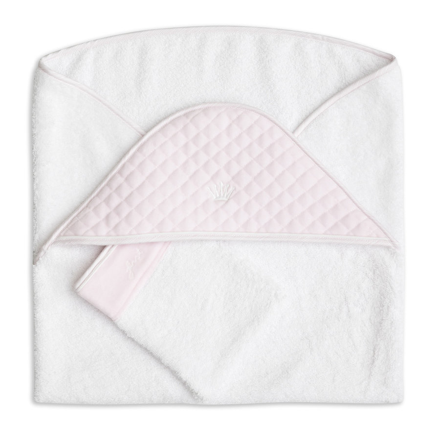 badcape met washandje - Pretty Pink-1