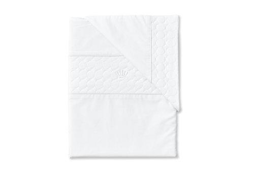 First - My First Collection dekbedovertrek met sloop voor wieg/box - Crystal White