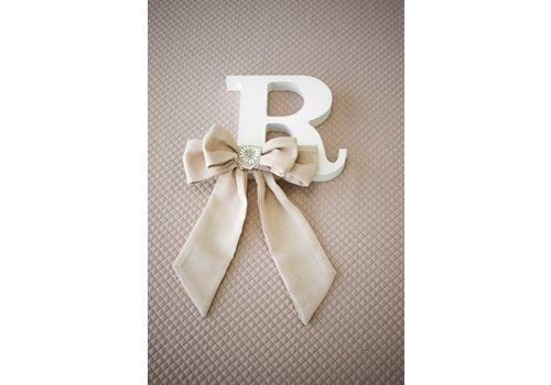 Royal Baby Collection letter met strik - glamour