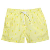 zwembroekje met ijsjes - geel