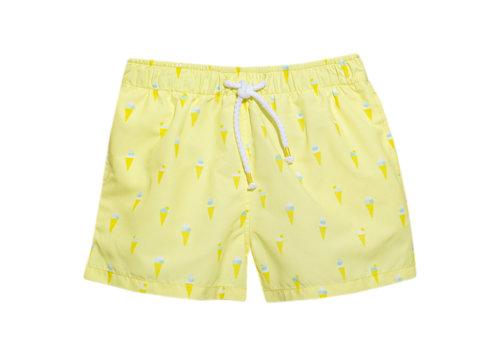 Patachou zwembroekje met ijsjes - geel