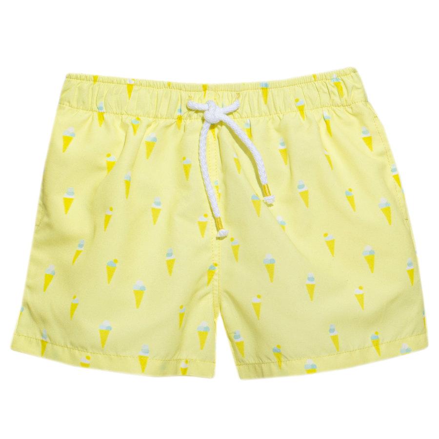 zwembroekje met ijsjes - geel-1