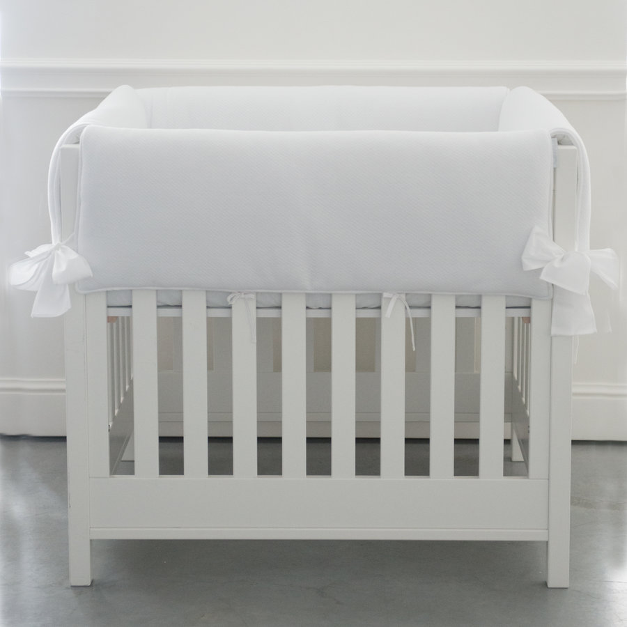 Soft Grey Parkbeschermer/wieg - Gewafeld-1
