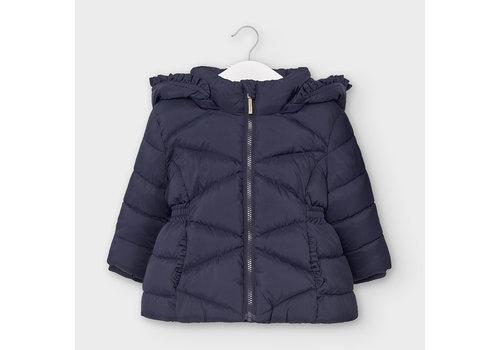 Mayoral gewatteerde jas met schulprand - blauw
