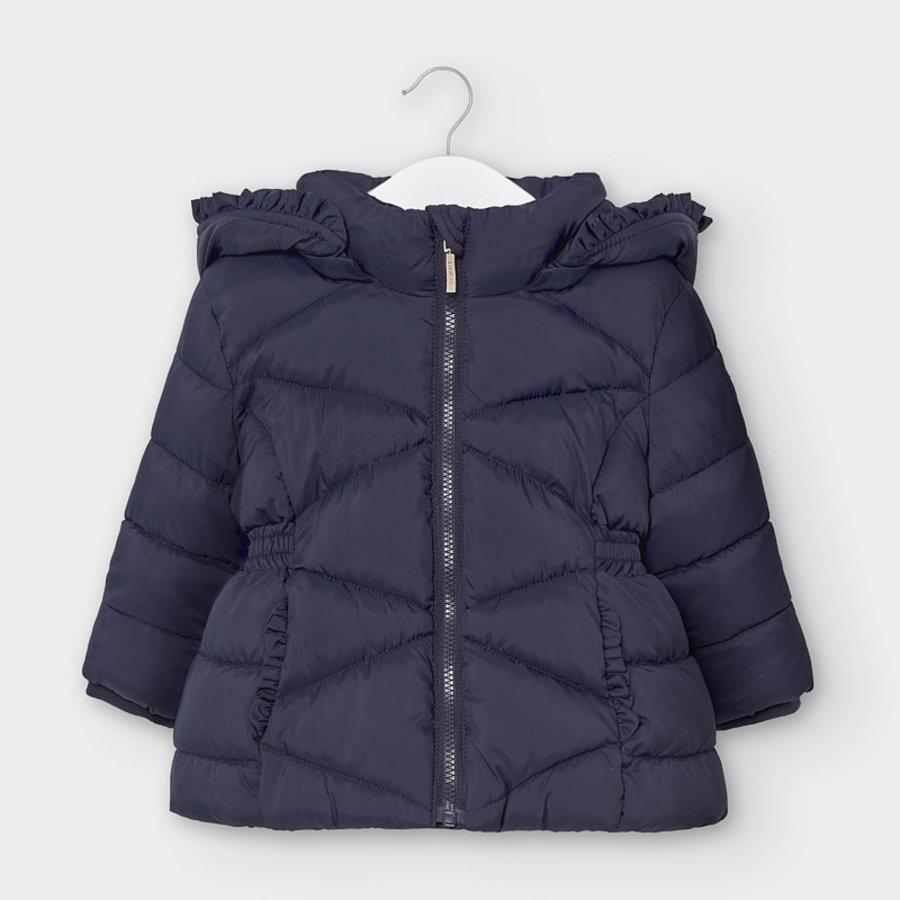 gewatteerde jas met schulprand - blauw-1