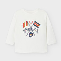 t-shirt met opdruk - offwhite