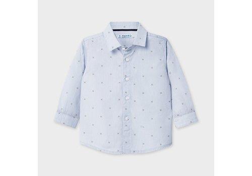 Mayoral overhemd met print - blauw