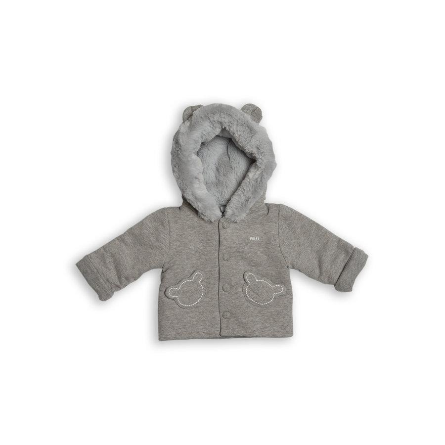 vest met faux fur capuchon - grijs-1