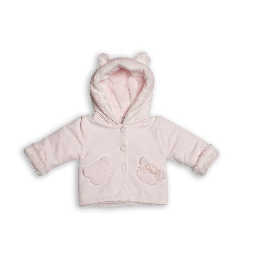 vest met faux fur capuchon - roze-1