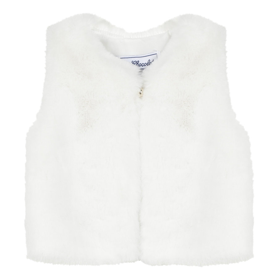 faux fur vestje - offwhite-1