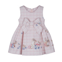thumb-jurk met strik konijn - roze-1