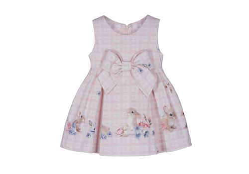Lapin House jurk met strik konijn - roze