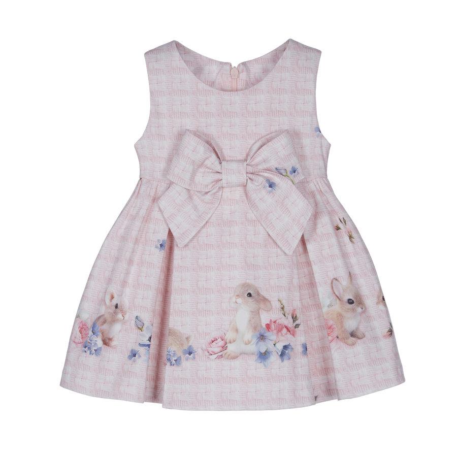 jurk met strik konijn - roze-1