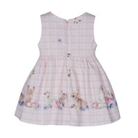 thumb-jurk met strik konijn - roze-2