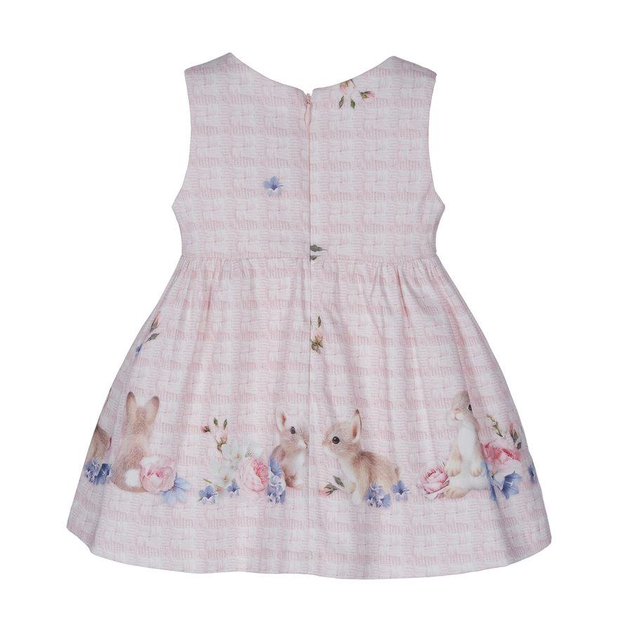 jurk met strik konijn - roze-2