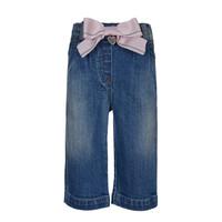 thumb-spijkerbroekje met roze strik - blauw-1