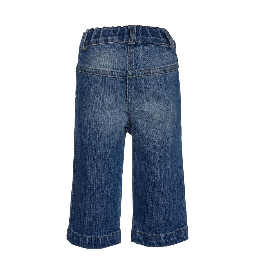 spijkerbroekje met roze strik - blauw-2