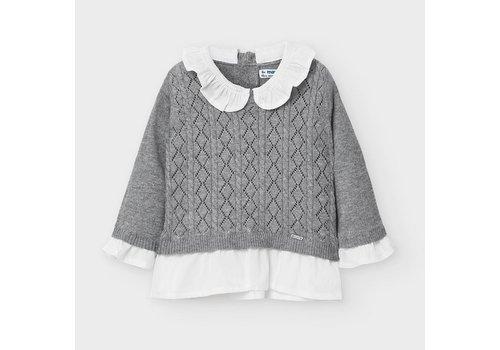 Mayoral trui met kraagje - grijs