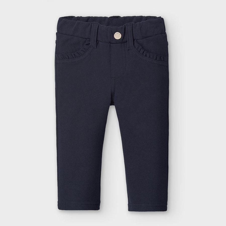 legging met ruches - donkerblauw-1