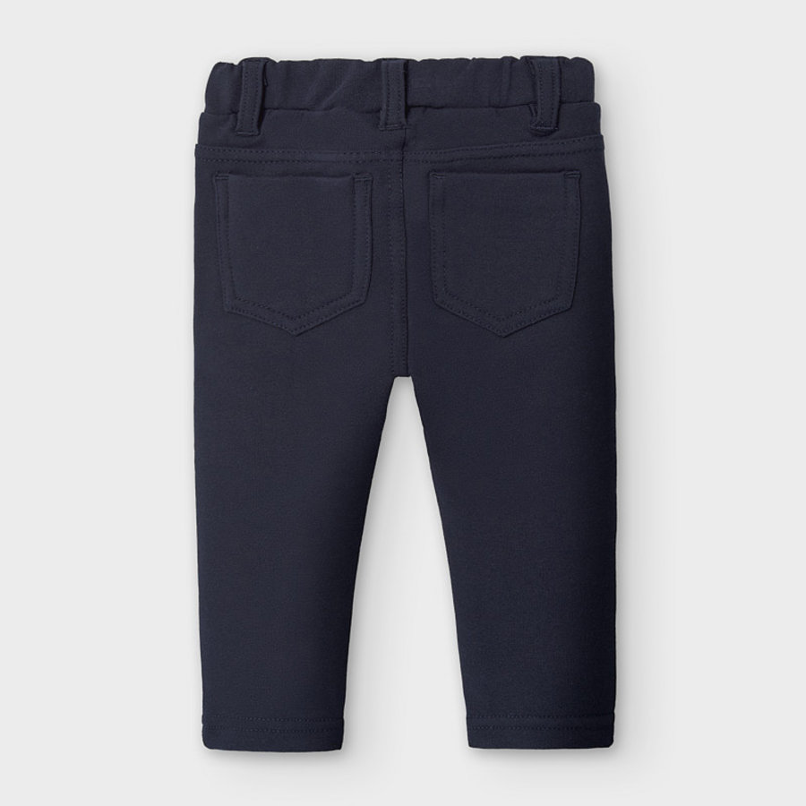 legging met ruches - donkerblauw-2
