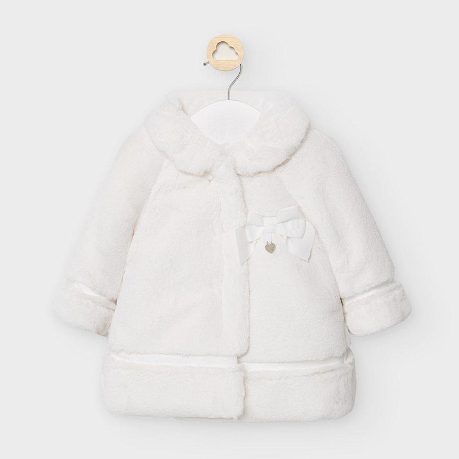 faux fur jasje met strik - offwhite-1