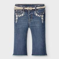 thumb-spijkerbroekje met riem - blauw-1