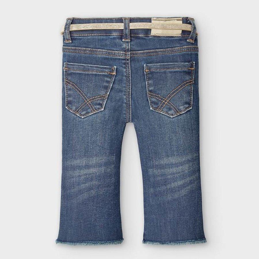 spijkerbroekje met riem - blauw-2
