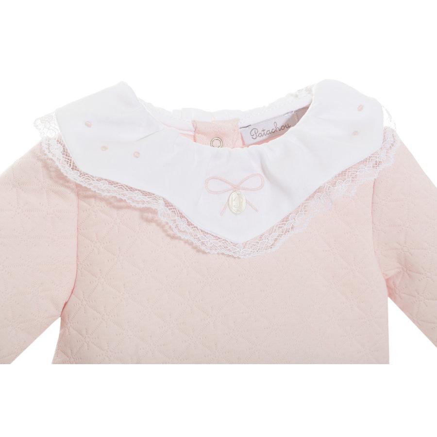 2-delig babypakje met kraagje - roze-2
