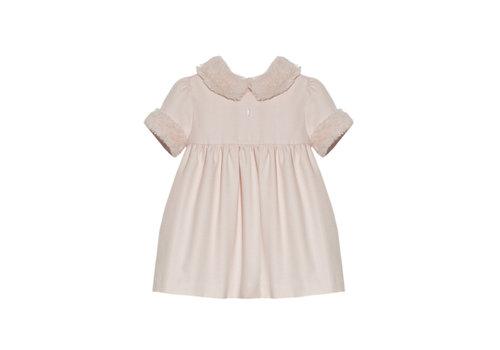 Patachou jurkje met faux fur kraag - roze