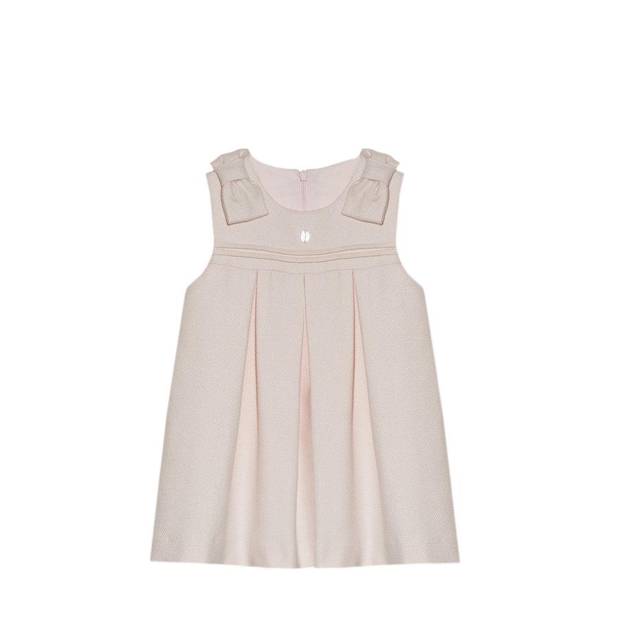 jurk met strikken - roze-1