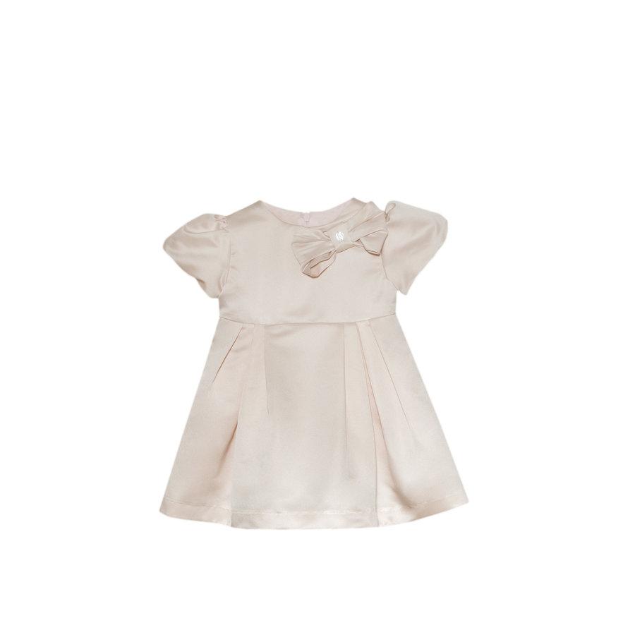 jurk met strik - roze-1