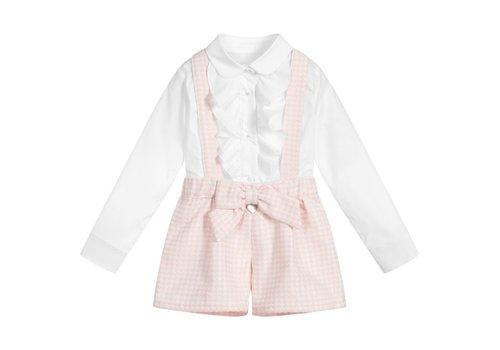 Lapin House blouse volant met broekje strik - roze