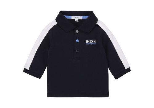 Hugo Boss baby polo met bies - blauw