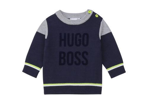Hugo Boss trui boss met bies - blauw