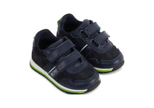 Hugo Boss sneaker leer suede - blauw