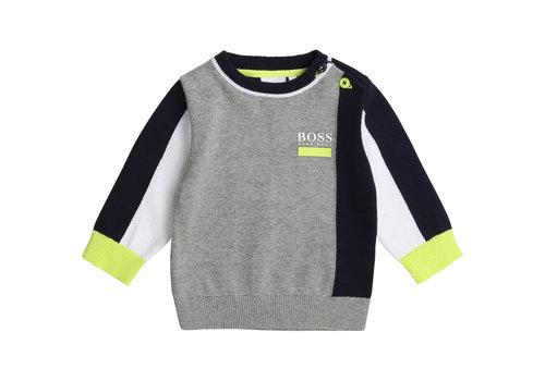 Hugo Boss trui met kleur - grijs