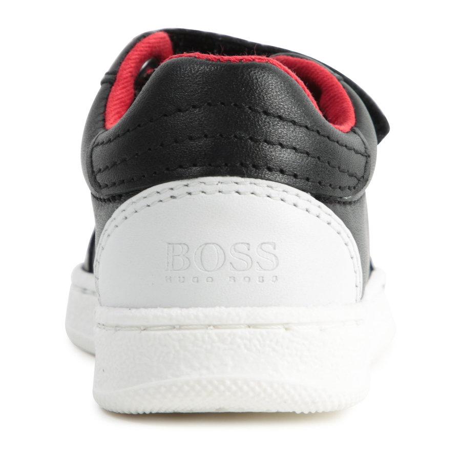 sneakers leer - zwart-2