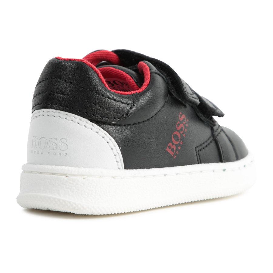 sneakers leer - zwart-3
