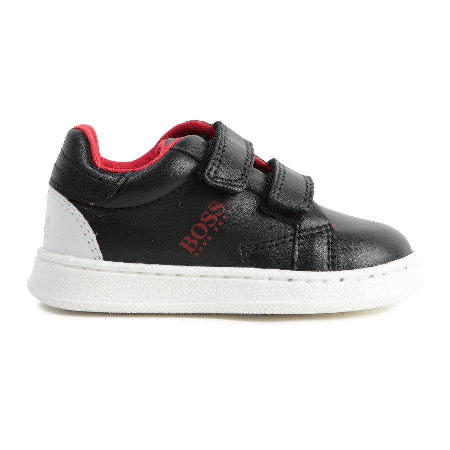 sneakers leer - zwart-4