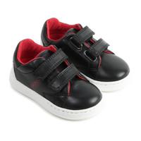 thumb-sneakers leer - zwart-1