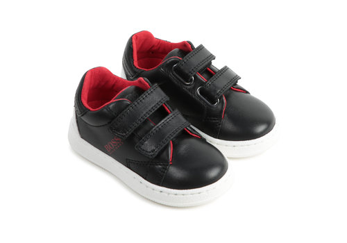 Hugo Boss sneakers leer - zwart