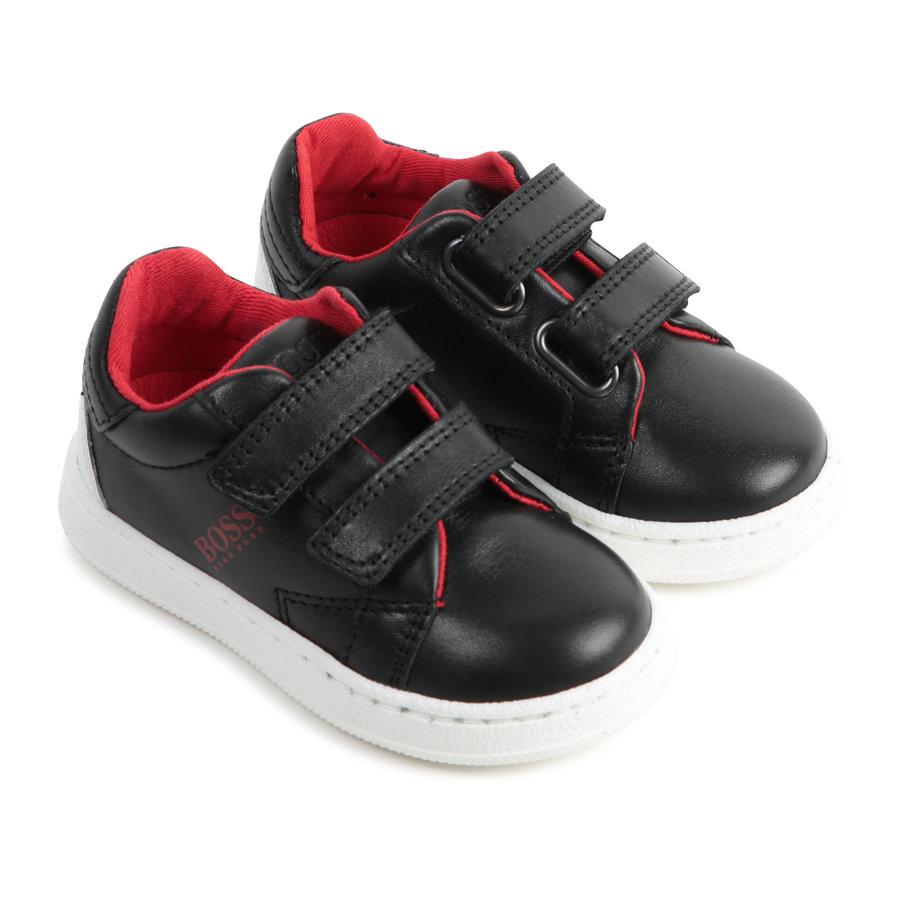 sneakers leer - zwart-1