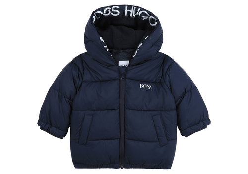 Hugo Boss winterjas dons boss - blauw