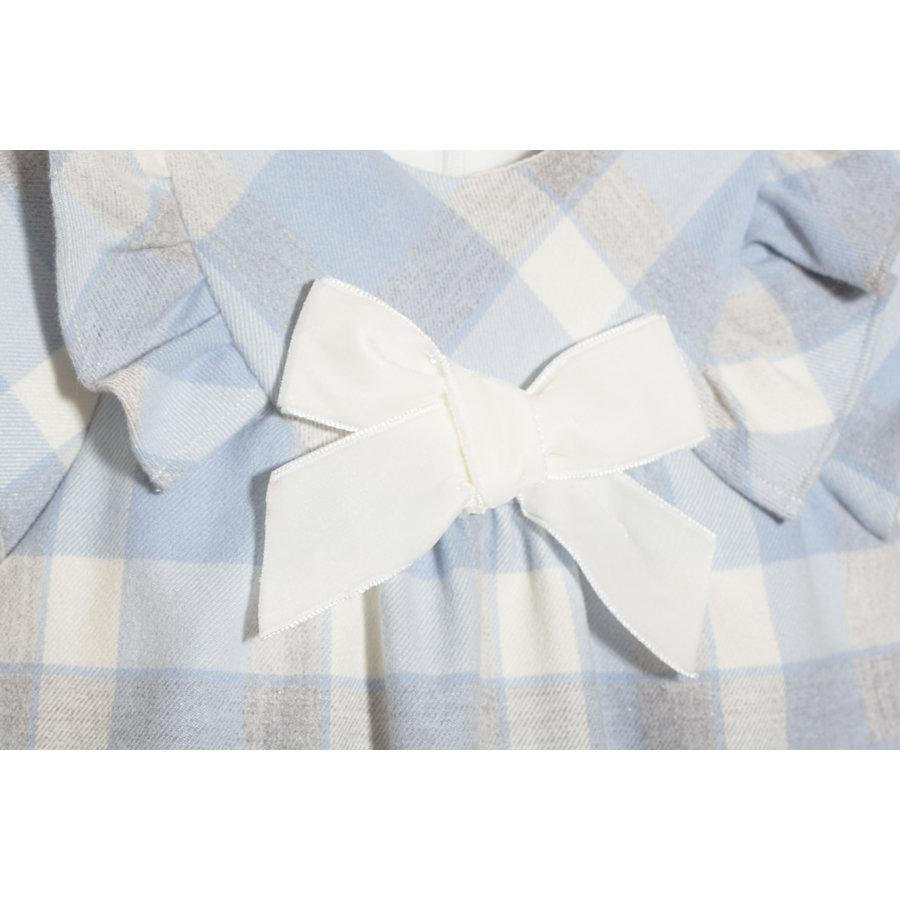jurkje ruit met strik - blauw-2