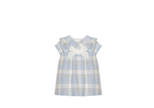 Patachou jurkje ruit met strik - blauw