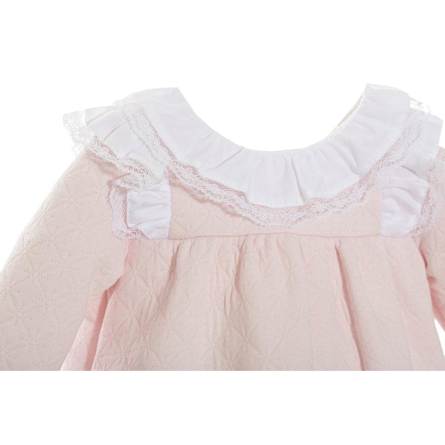 jurkje met kanten kraag - roze-2