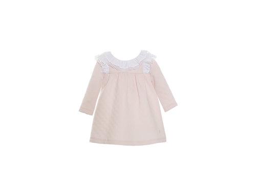 Patachou jurkje met kanten kraag - roze
