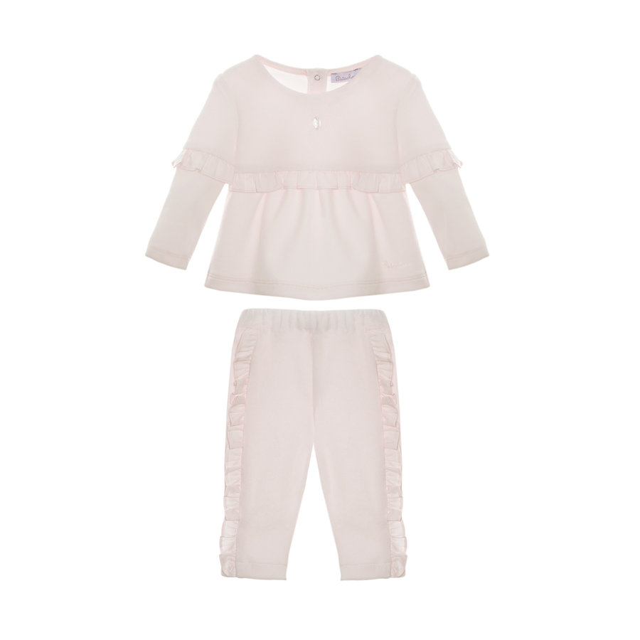 trui met broekje velours - roze-3
