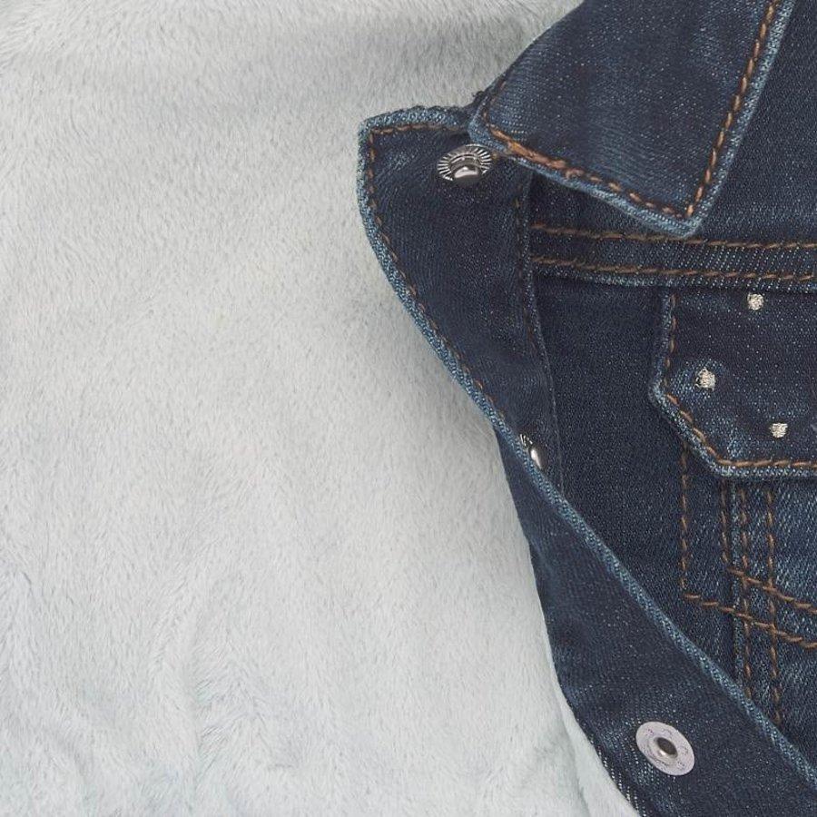 warm gevoerd spijkerjasje - blauw-2
