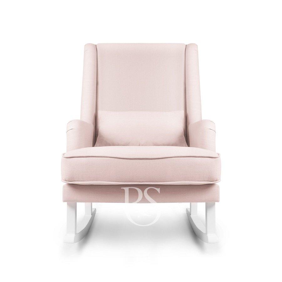 schommelstoel Bliss Rocker - Blush Pink / White-2
